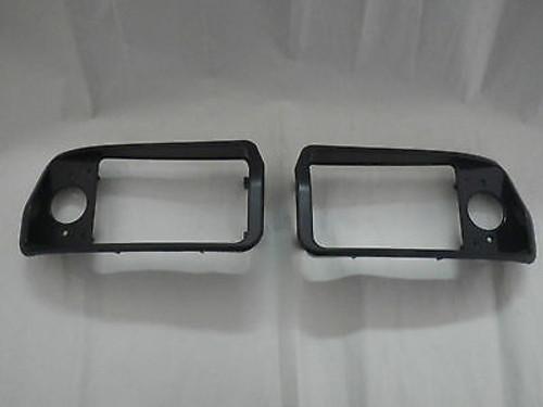 Club Car Golf Cart DS 1993-up New Replacement Headlight Black Bezels Left, Right
