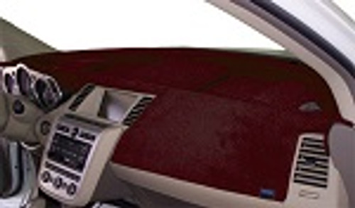 Ford Van E-Series 1975-1991 No AC Velour Dash Cover Mat Maroon