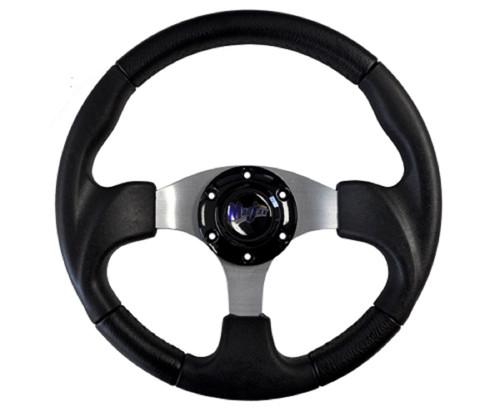 """Madjax 13"""" Black Razor Steering Wheel Golf Carts Yamaha EZGO Club Car"""