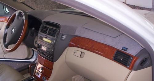 Lincoln MKZ 2007-2009 Brushed Suede Dash Board Cover Mat Charcoal Grey