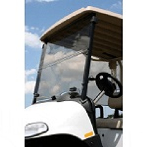 "EZGO RXV Golf Cart 2008-Up 1/4"" Acrylic Tinted Folding Front Windshield"