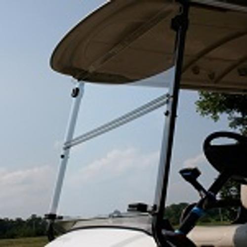 Yamaha Drive2 2017+ Golf Cart Folding Front Windshield | Clear