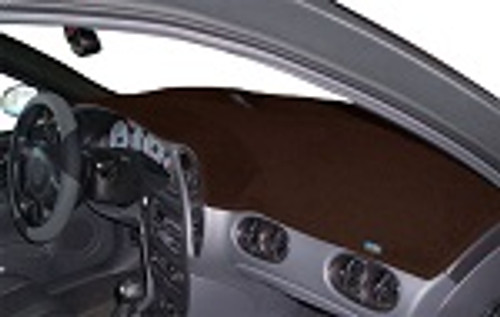 Chevrolet Bolt EV 2017-2020 No FCW Carpet Dash Cover Mat Dark Brown