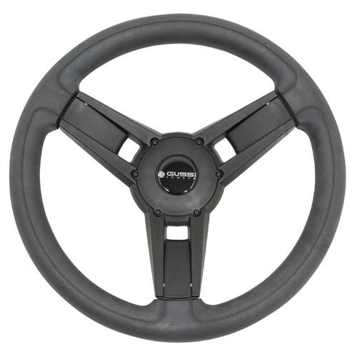 """Gussi Italia Giazza Black 14"""" Steering Wheel   Yamaha Golf Cart"""