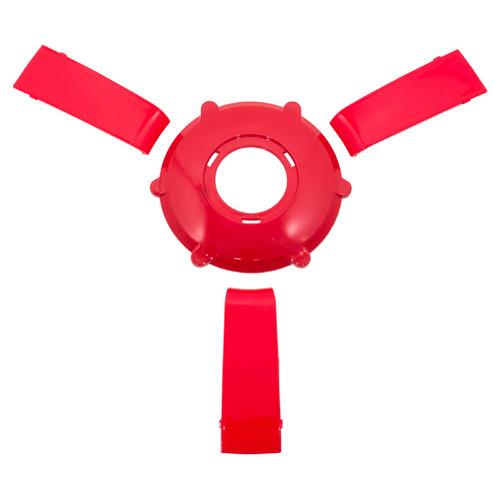 Gussi Italia Giazza Steering Wheel Insert Set   Red