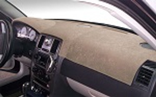 Fiat 500e Electric 2016-2018 Brushed Suede Dash Board Cover Mat Mocha
