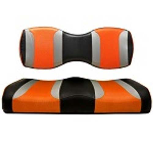 For Genesis 250 300 Rear Seat | Madjax Tsunami Seat Cushions Black Silver Orange