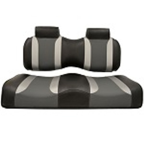 Club Car Precedent 2004-2011 | Madjax Tsunami Seat Cushions Black Silver Grey