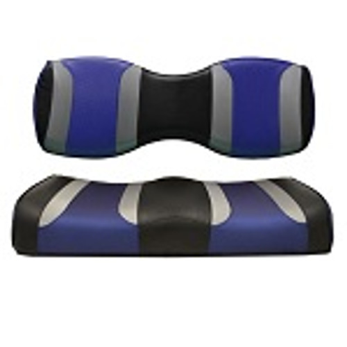 For Genesis 250 300 Rear Seat | Madjax Tsunami Seat Cushions Black Silver Blue