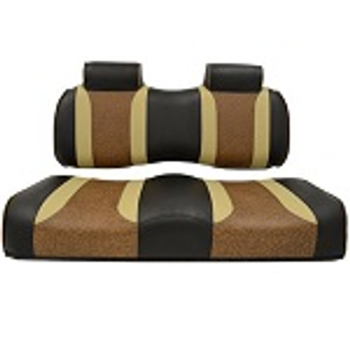 Club Car Precedent 2004-2011 | Madjax Tsunami Seat Cushions Black Autumn Brown