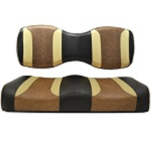 For Genesis 250 300 Rear Seat | Madjax Tsunami Seat Cushions Black Autumn Brown