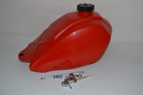 Honda ATC250SX ATC 250SX 1985-1987 Plastic Fuel Tank w/ Petcock | Red