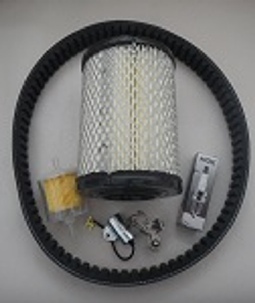 Harley Davidson 2-Cycle Golf Cart 1971-1981 Tune Up Kit with Drive Belt