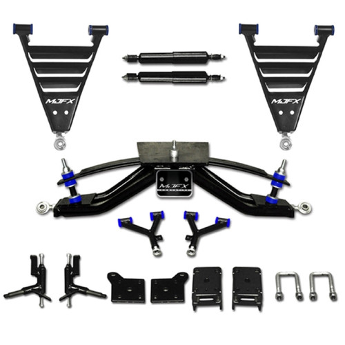 "EZGO Electric RXV Golf Cart 2008-2013.5 6"" HD A-Arm MadJax Lift Kit 