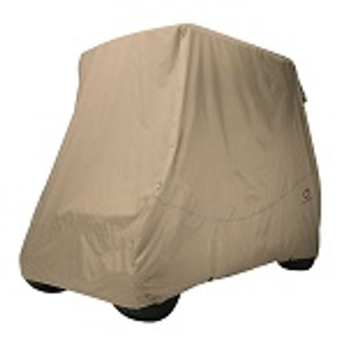 Classic Accessories Fairway 2 Person Golf Cart Quick-Fit Storage Cover | Khaki