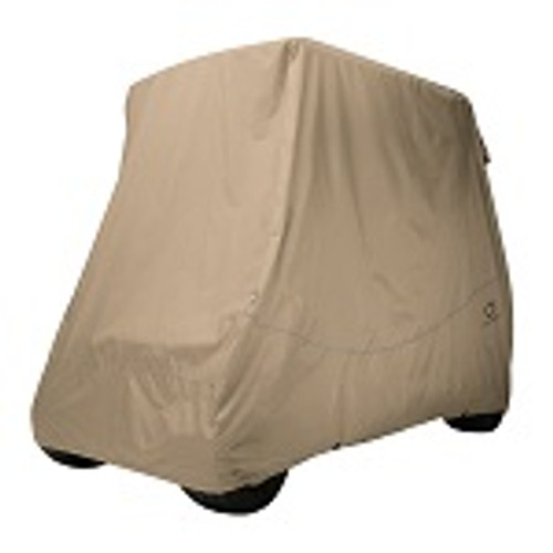 Classic Accessories Fairway Conversion Golf Cart Quick-Fit Storage Cover | Khaki