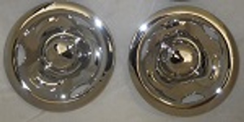 "Golf Cart EZGO, Yamaha, Club Car 8"" Chrome Deep Dish Wheel Cover Hub Caps - Set of 2"