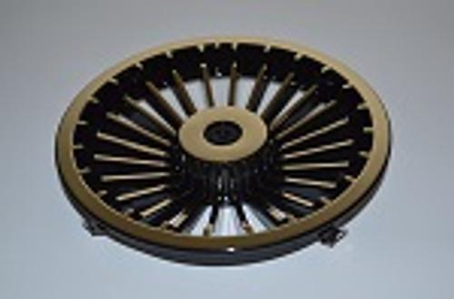"Golf Cart EZGO Yamaha Club Car 8"" Turbine Black Gold Wheel Cover Hub Cap"
