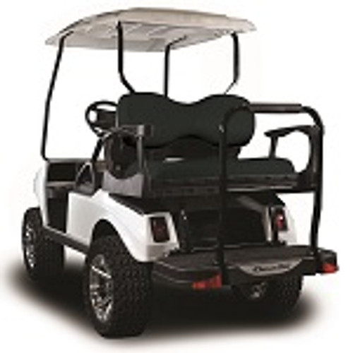 Madjax Genesis 250 Rear Deluxe Flip Seat | Club Car DS Golf Cart| Black
