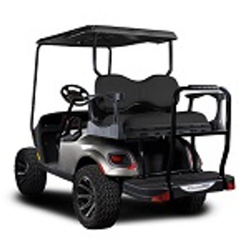 Madjax Genesis 300 Rear Deluxe Flip Seat | EZGO RXV Cart 2008-Up | Black