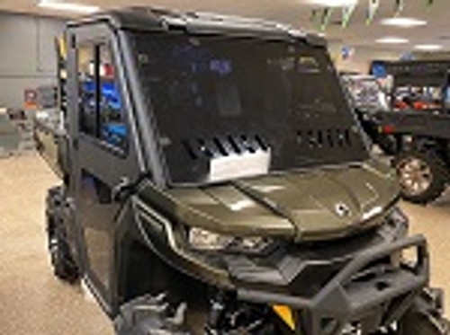 Can Am Defender 2016-2021 Scratch Resistant Vented Front Windshield | Tinted