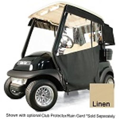 RedDot Chameleon 2 Passenger Golf Cart Track Enclosure | Yamaha Drive | Linen