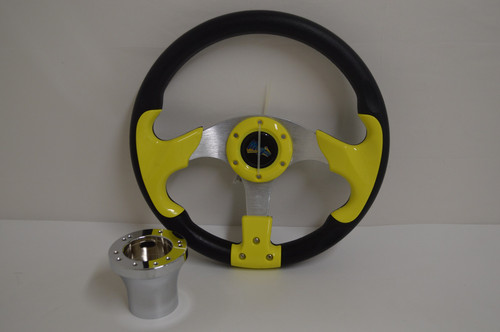 "13"" Yellow / Black Razor Steering Wheel 