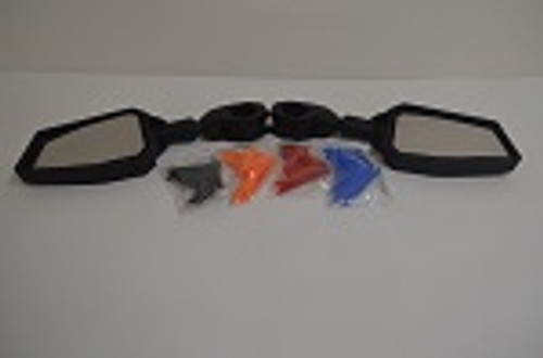 """UTV Side by Side 1.75"""" Clamp Side View Fully Adjustable Mirror Set w/ Inserts"""