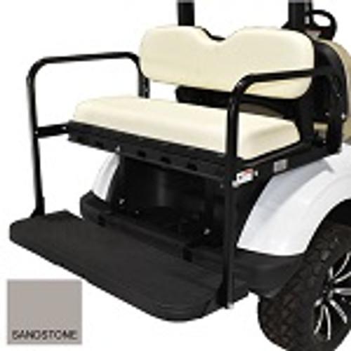 EZGO RXV Golf Cart 2008-Up | GTW MACH3 Rear Flip Seat | Sandstone