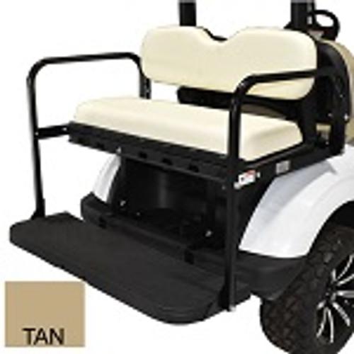 EZGO TXT Golf Cart 1994.5-Up | GTW MACH3 Rear Flip Seat | Tan