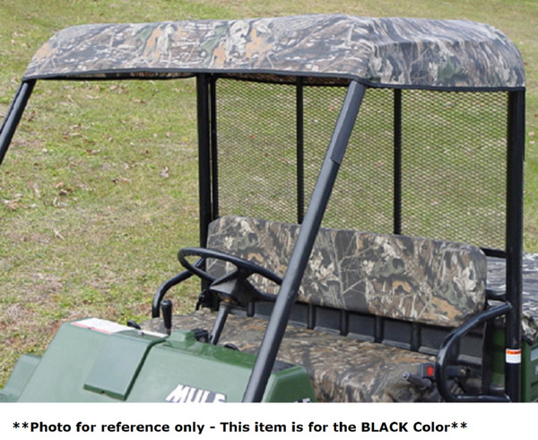 Kawasaki Mule 4010 Trans Roll Cage Soft Top Roof | Black
