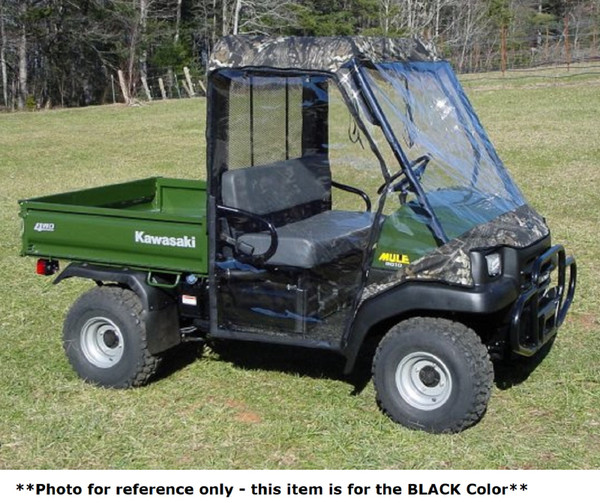 Kawasaki Mule 3000 3010 UTV Full Cabin Cab Enclosure | Black