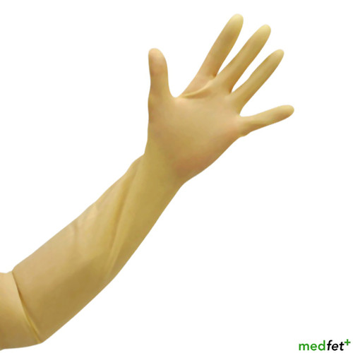 Arm-Length Latex Gauntlets