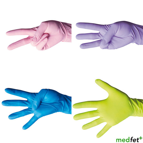 Latex Exam Gloves - Colours