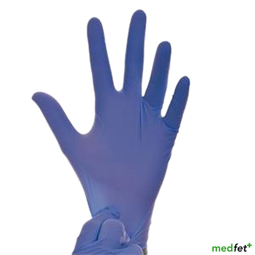 Lavender Blue Nitrile Exam Gloves