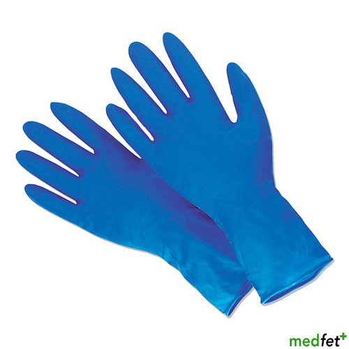 Dermagrip® latex high risk examination gloves with extended cuff.