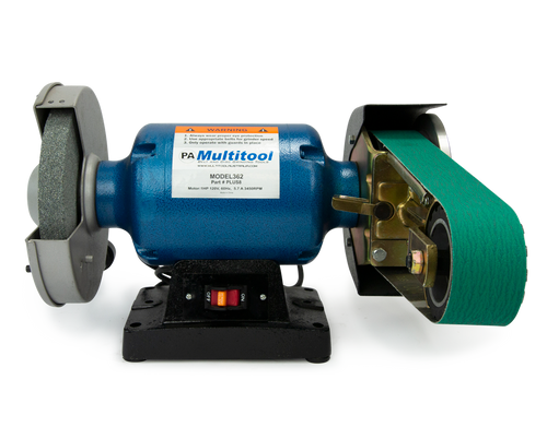 "Multitool 8"" Grinder 1HP 120V, assembled with MT362 2x36 attachment"