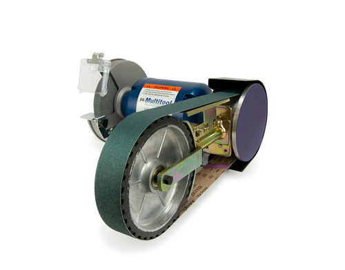 """Multitool 8"""" Grinder 1HP 120V, assembled with 8CW attachment (2x48 belt - 8"""" contact wheel)   (on BO until 6/1/19)"""