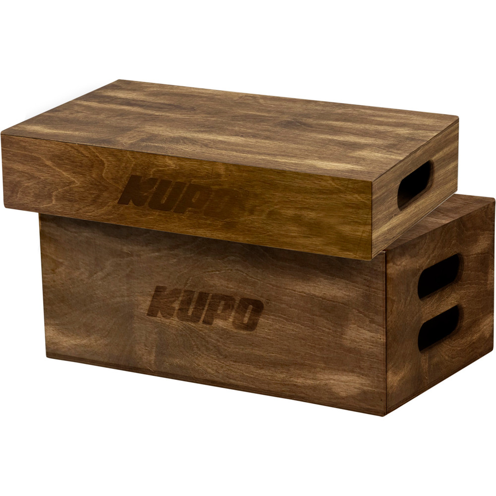 Kupo Brown Stained Apple Box Set - Half And Full Size