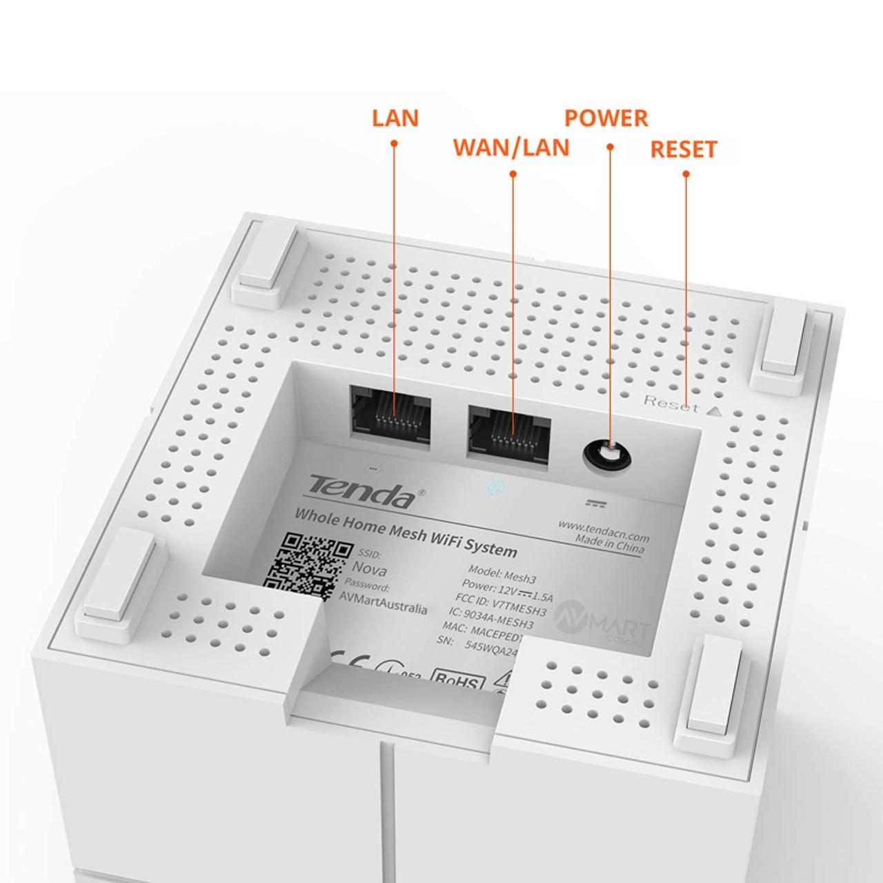 Tenda nova MW6 inputs LAN