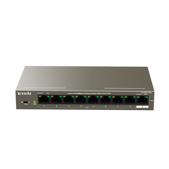 Tenda TEF1109P-8-102W 9-Port Fast Unmanaged Switch With 8-Port PoE