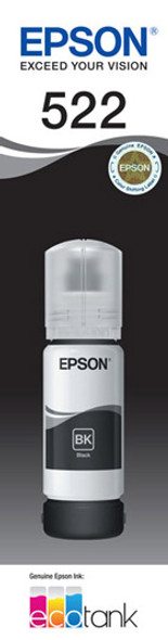 Epson T522 Black Ink Bottle for EcoTank ET-4700, ET-2710, ET-1110, ET-2720
