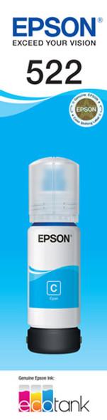 Epson T522 Cyan Ink Bottle for EcoTank ET-4700, ET-2710, ET-1110, ET-2720