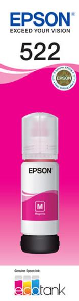 Epson T522 Magenta Ink Bottle for EcoTank ET-4700, ET-2710, ET-1110, ET-2720