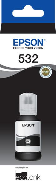 Epson T532 Black Ink Bottle for EcoTank ET-M3170, ET-M3180, ET-M1180, ET-M1100, ET-M1120, ET-M2170, ET-M1170