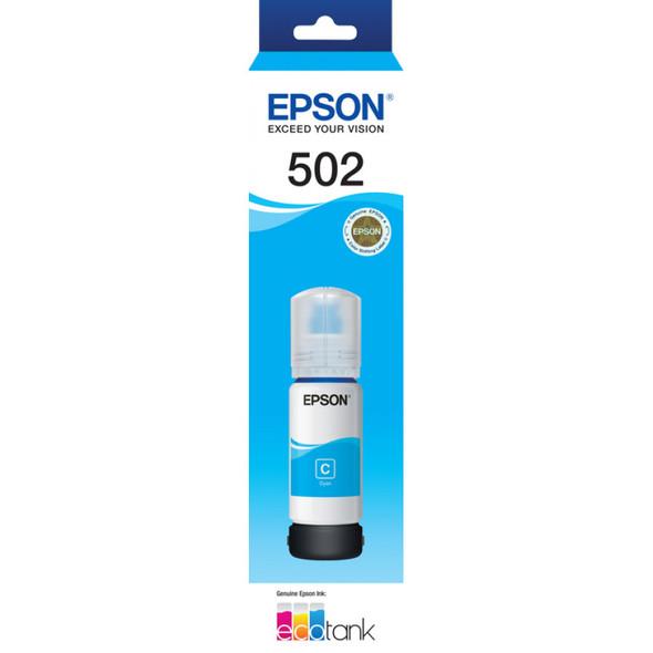 Epson T502 Cyan Ink Bottle for EcoTank ET-4750, ET-3700, ET-2750, ET-2700