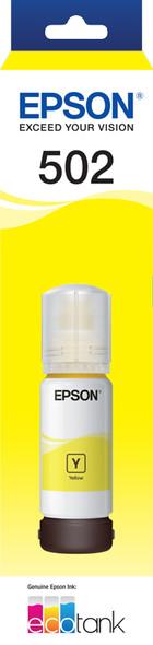 Epson T502 Yellow Ink Bottle for EcoTank ET-4750, ET-3700, ET-2750, ET-2700