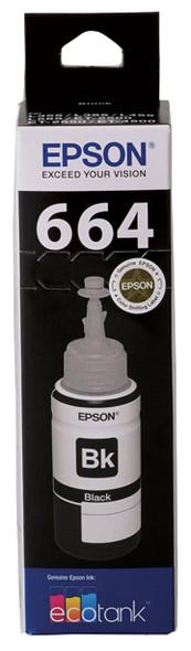 Epson T664 Black Ink Bottle for EcoTank ET-4500, ET-2550, ET-2500, ET-2650, ET-2610