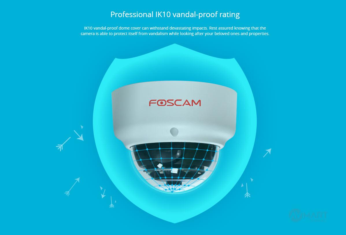 Foscam D2EP Professional IK10 vandal-proof rating