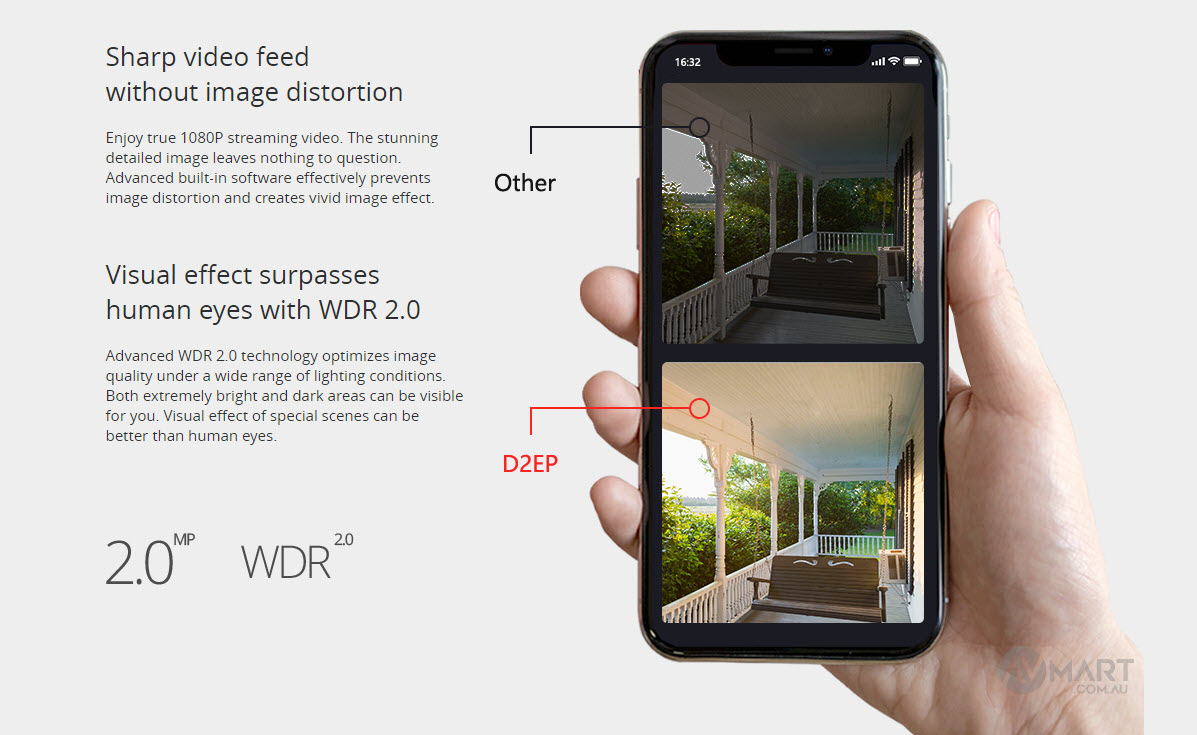Foscam D2EP Sharp video feed without image distortion
